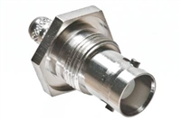 BNC Female Bulkhead Crimp Connector - RG59 & RG62