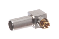 MC Male Right Angle Crimp Connector - RG-174