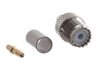 Mini UHF Female Crimp Connector - RG58 RG141 & LMR-195