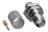 TNC Female Bulkhead Crimp Connector - LMR-400