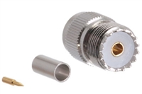 UHF Female Crimp Connector - RG58 RG141 & LMR-195