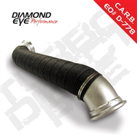 "Diamond Eye 3"" Aluminized Steel Down Pipe with Heat Wrap for 2004.5-2010 Duramax Diesel Engines"