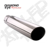 "Diamond Eye 3.5"" Polished 304 SS Diesel Exhaust Tip-Rolled Angle"