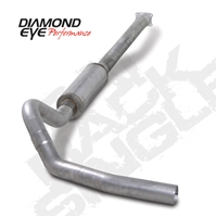"Diamond Eye 4"" Cat Back Aluminized Exhaust for 2001-2005 LB7, LLY Duramax Diesel Engines"