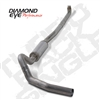 "Diamond Eye 4"" Down Pipe Back 409 Stainless Steel Exhaust for 2001-2010 Duramax Diesel Engines"