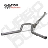 "Diamond Eye 4"" Down Pipe Back Aluminized Steel Dual Outlet Exhaust for 2001-2010 Duramax Diesel Engines"