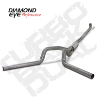 "Diamond Eye 4"" Down Pipe Back 409 Stainless Steel Dual Outlet Exhaust for 2001-2010 Duramax Diesel Engines"