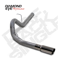 "Diamond Eye 4"" Filter Back T409 Stainless Steel Exhaust for 2011-2015 Duramax Diesel Engines"