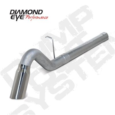 "Diamond Eye 4"" Filter Back T409 Stainless Steel Turn Down Exhaust for 2011-2015 Duramax Diesel Engines"