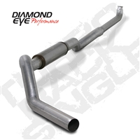"Diamond Eye 5"" Down Pipe Back 409 Stainless Steel Exhaust for 2001-2010 Duramax Diesel Engines"