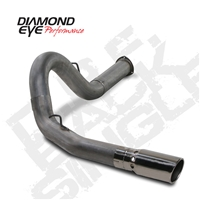 "Diamond Eye 5"" Filter Back T409 Stainless Exhaust for 2007.5-2010 LMM Duramax Diesel Engines"