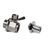 EZ Oil Drain Valve With Nipple for 6.7L Powerstroke
