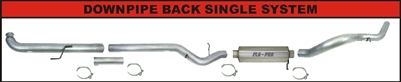 Photo of a Flo Pro Aluminized Steel down pipe back exhaust system for 2001-2007 LB7, LLY, LBZ 6.6L Duramax Diesel