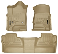 Husky Liners Weatherbeater Floor Mat Set Tan 2015-Up