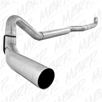 "MBRP 4"" Down Pipe Back Aluminized Exhaust Less Muffler for 2001-2010 Duramax Diesel Engines-Tip not Included"
