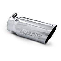 "MBRP 4x5"" Polished T-304 Stainless Steel Diesel Exhaust Tip Angle Cut"