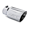 "MBRP 4x6"" Polished T-304 Stainless Steel Diesel Dual Wall Exhaust Tip Angle Cut"
