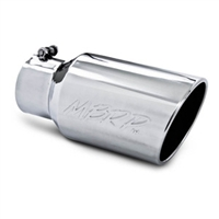 "MBRP 4x6"" Pro Series Polished T-304 SS Diesel Exhaust Tip-Angle Cut Rolled End"