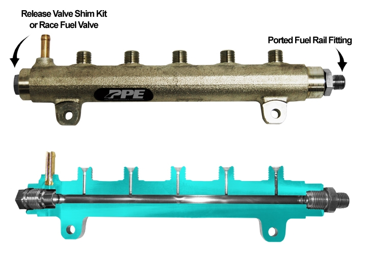 PPE High Performance Fuel Rail For 2004 5 -2005 Duramax Diesel Engines LLY