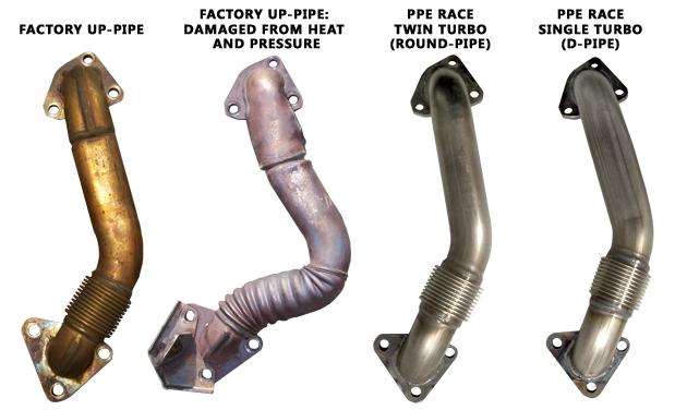 PPE High Flow Race Exhaust Manifolds 2001-2010 Duramax Diesel Engines