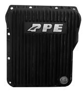 PPE Low Profile (Stock Depth) Aluminum Transmission Pan Brushed Black 2001-Up
