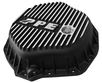PPE Rear Differential Cover Brushed Black for GM 2500/3500 HD Pick Ups 2001-Up