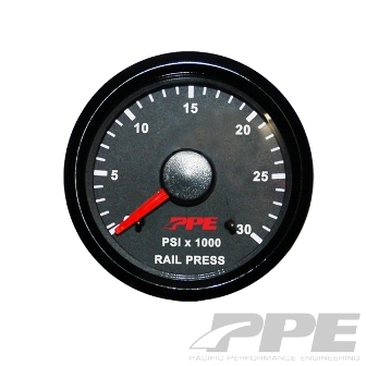 PPE Fuel Rail Pressure Gauge 0-30K PSI for 2001-2010 Duramax