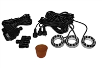 AB880-3R - Three-light Large Water Plume LED Light Kit with Rubber Stopper