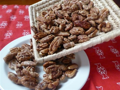 Candied Pecans at Palestine Texas Pecans