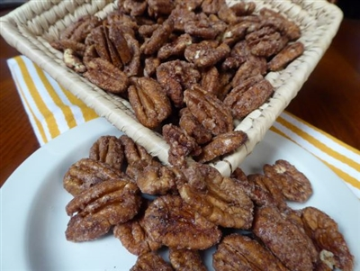 Cinnamon Frosted Pecans at Palestine Texas Pecans