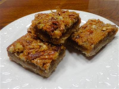Texas Pecan Squares recipe at Palestine Texas Pecans