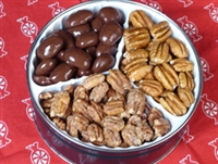 Trio Tin of Texas Pecan Halves at Palestine Texas Pecans