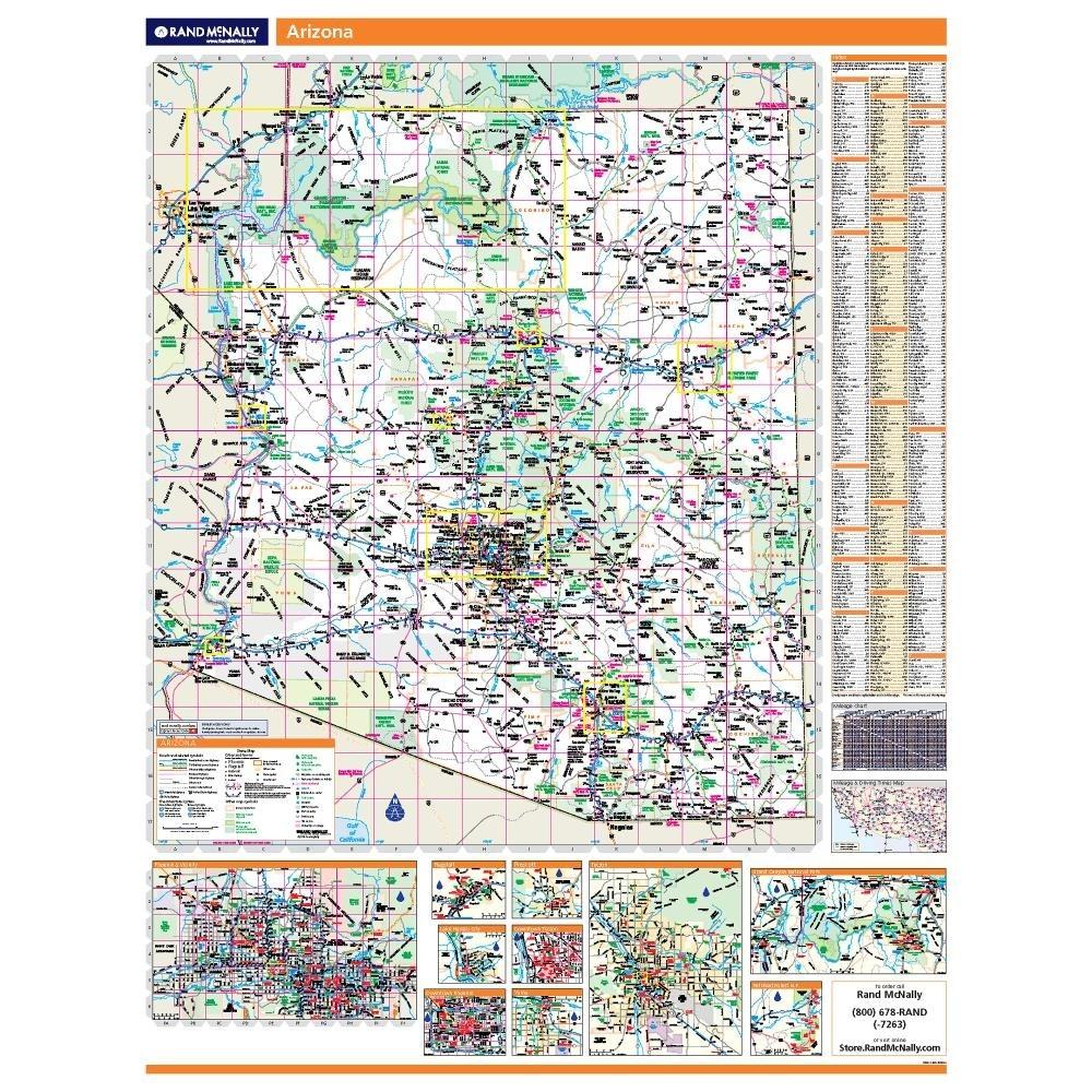 Arizona Laminated State wall map