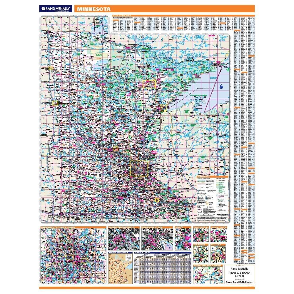 Minnesota Laminated State wall map