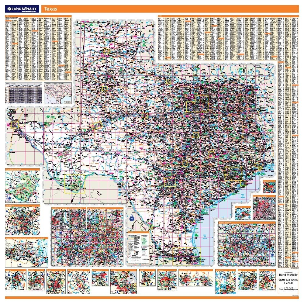 Texas laminated state wall map sciox Gallery