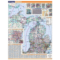 Michigan Highway City County map
