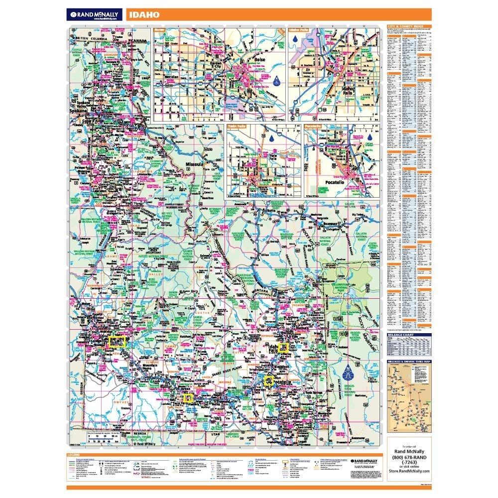 Idaho Laminated State wall map