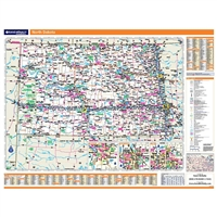 North Dakota Highway City County map