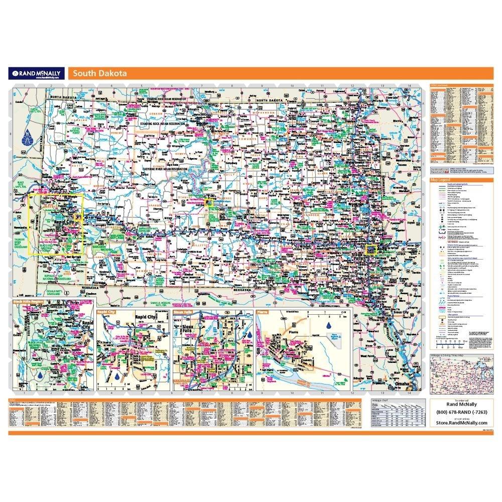 South Dakota Laminated State Wall Map