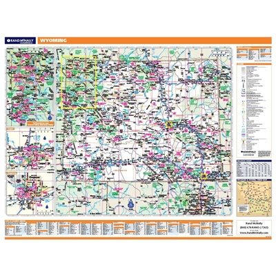 Wyoming Highway City County map