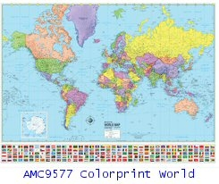 Colorprint world map AMC9577