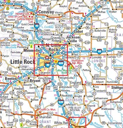 Arkansas State Wall Map by Globe Turner 18x21