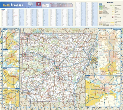 Arkansas State Wall Map by Globe Turner