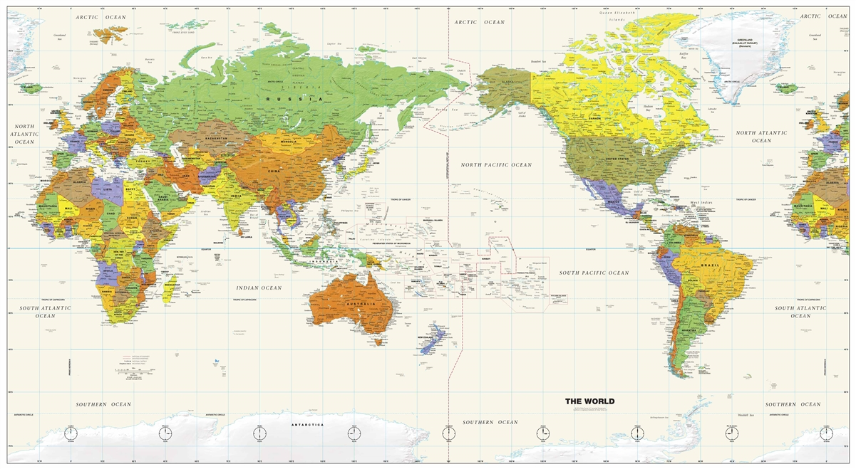 Pacific Centered World by Globe Turner 61 x 34 on
