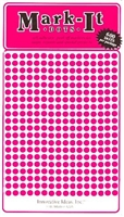 "600 pink 1/8"" map stick-on map dots"