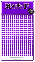 "600 Purple 1/8"" map stick-on map dots"