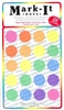 "transparent stick-on dots 3/4"" map stickers mixed colors"