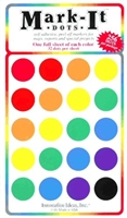 "stick-on dots 3/4"" map stickers mixed colors"