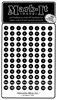 "Stick-on Dots Medium 1/4"" Numbered 1-240 black"
