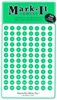 "Stick-on Dots Medium 1/4"" Numbered 1-240 green"